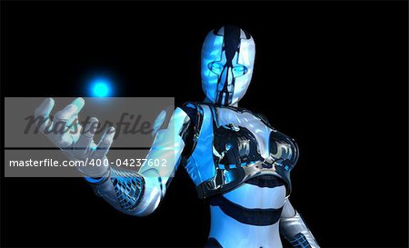 3d illustration of a advanced cyborg soldier HD Stock Photo - Budget Royalty-Free, Image code: 400-04237602