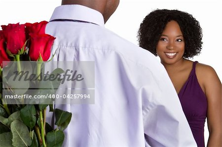 Man giving woman roses Stock Photo - Budget Royalty-Free, Image code: 400-04257994