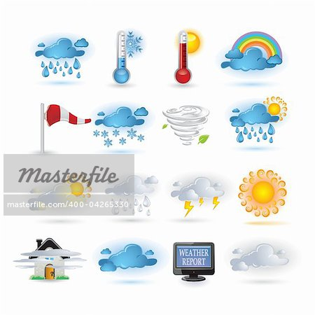Weather report  icon set