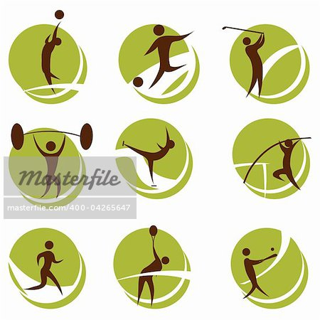 illustration of sports on white background Stock Photo - Budget Royalty-Free, Image code: 400-04265647