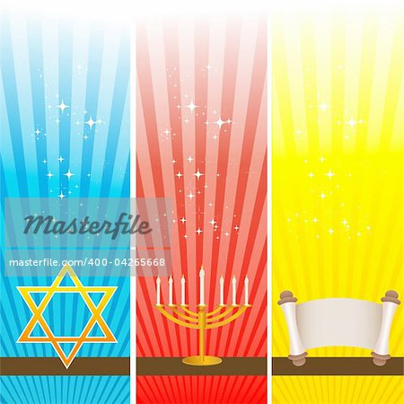 illustration of hanukkah card Stock Photo - Budget Royalty-Free, Image code: 400-04265668