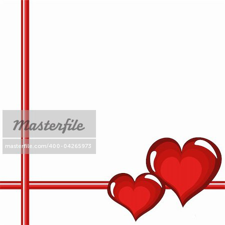 Frame with red  hearts Stock Photo - Budget Royalty-Free, Image code: 400-04265973