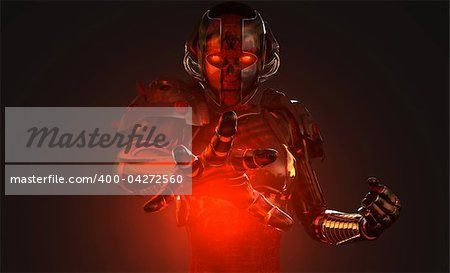 quality 3d illustration of advanced cyborg characters Stock Photo - Budget Royalty-Free, Image code: 400-04272560