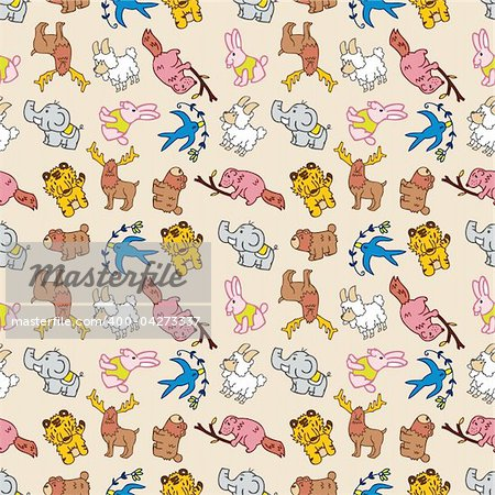 seamless cute animal pattern Stock Photo - Budget Royalty-Free, Image code: 400-04273337