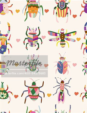 seamless bug pattern Stock Photo - Budget Royalty-Free, Image code: 400-04273683