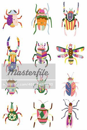 cartoon color bug icon Stock Photo - Budget Royalty-Free, Image code: 400-04273983