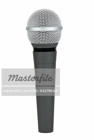 Cordless microphone  isolated on the white background