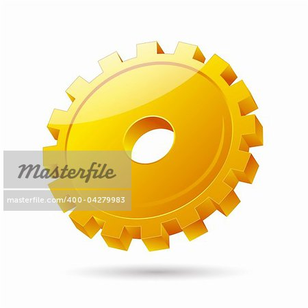 illustration of gear icon on white background Stock Photo - Budget Royalty-Free, Image code: 400-04279983