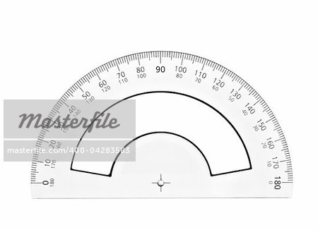 close up of plastic transparent ruler on white background with clipping path Stock Photo - Budget Royalty-Free, Image code: 400-04283583