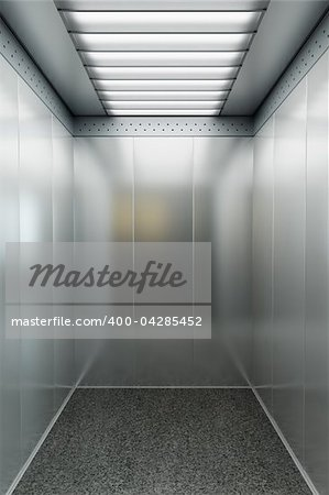 modern elevator with open doors Stock Photo - Budget Royalty-Free, Image code: 400-04285452