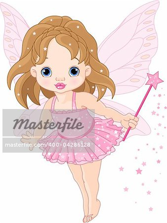 Illustration of Cute little baby fairy in fly Stock Photo - Budget Royalty-Free, Image code: 400-04286128