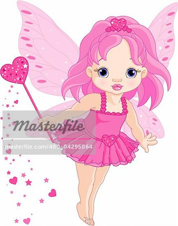 Illustration of Cute little Love baby fairy in fly Stock Photo - Budget Royalty-Free, Image code: 400-04295064