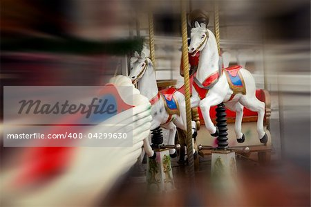 Vintage carousel - soft focus photo