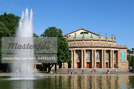 The opera house in Stuttgart is home of the famous ballett Stock Photo - Budget Royalty-Free, Image code: 400-04300540
