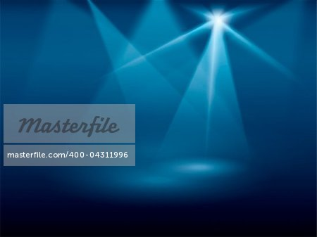 A blue background image of stage lights Stock Photo - Budget Royalty-Free, Image code: 400-04311996