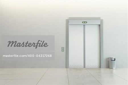 modern elevator with closed doors Stock Photo - Budget Royalty-Free, Image code: 400-04317268