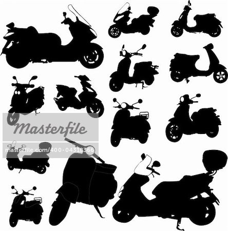 scooter motorcycle - vector Stock Photo - Budget Royalty-Free, Image code: 400-04318366