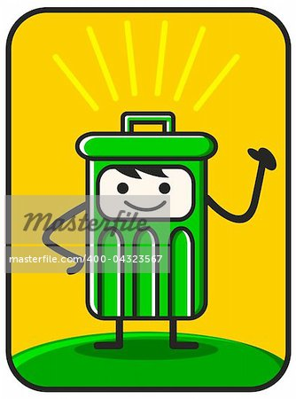 funny trash created by vector describe clean environment Stock Photo - Budget Royalty-Free, Image code: 400-04323567