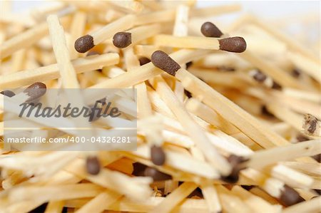 Background of many brown matches Stock Photo - Budget Royalty-Free, Image code: 400-04326281