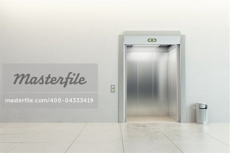 modern elevator with open doors Stock Photo - Budget Royalty-Free, Image code: 400-04333419