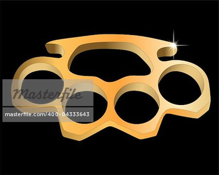 metal knuckles on a black background Stock Photo - Budget Royalty-Free, Image code: 400-04333643
