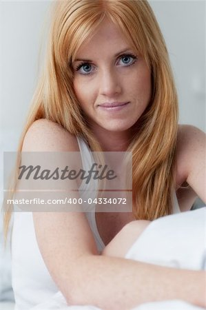 Portrait of a young pretty red haired woman Stock Photo - Budget Royalty-Free, Image code: 400-04334072
