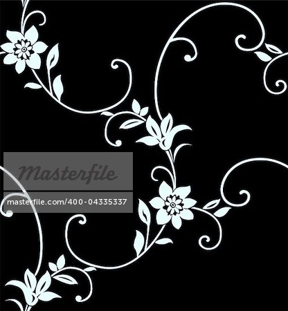 Seamless floral pattern vector illustration element for design Stock Photo - Budget Royalty-Free, Image code: 400-04335337