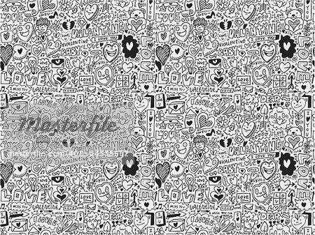 seamless love element pattern