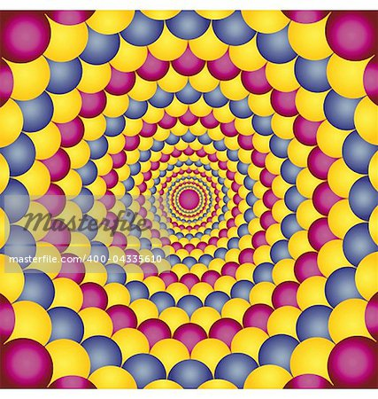Abstract design with geometric shapes optical illusion illustration Stock Photo - Budget Royalty-Free, Image code: 400-04335610