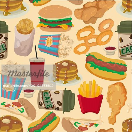 seamless fast food pattern Stock Photo - Budget Royalty-Free, Image code: 400-04338812