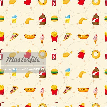 seamless fast food pattern Stock Photo - Budget Royalty-Free, Image code: 400-04343483