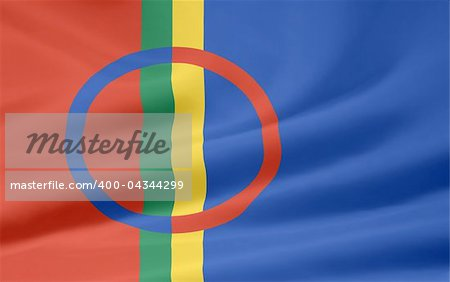 High resolution flag of the Sapmi area Stock Photo - Budget Royalty-Free, Image code: 400-04344299