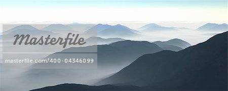 3d illustration of a mountain range Stock Photo - Budget Royalty-Free, Image code: 400-04346099