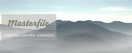 3d illustration of a mountain range Stock Photo - Budget Royalty-Free, Image code: 400-04346103