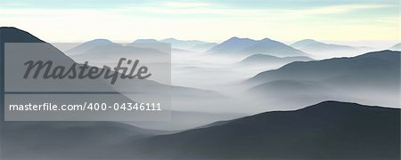 3d illustration of a mountain range Stock Photo - Budget Royalty-Free, Image code: 400-04346111