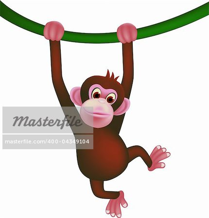 Cute monkey Stock Photo - Budget Royalty-Free, Image code: 400-04349104