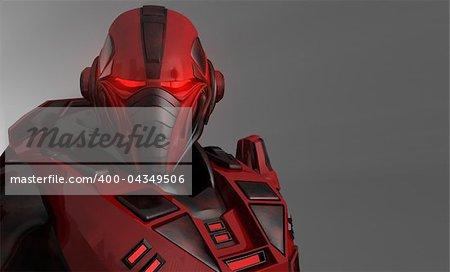 3d illustration of advanced future soldier Stock Photo - Budget Royalty-Free, Image code: 400-04349506