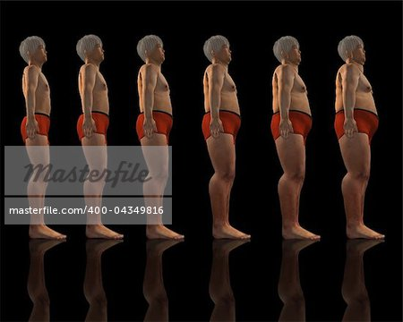 Image depicting the process of male gaining weight Stock Photo - Budget Royalty-Free, Image code: 400-04349816