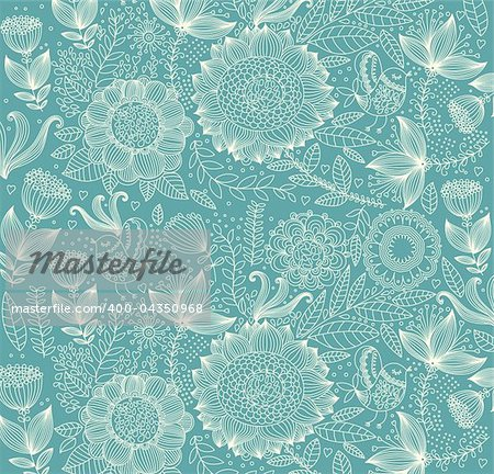 Vector wall-paper with a flower pattern.