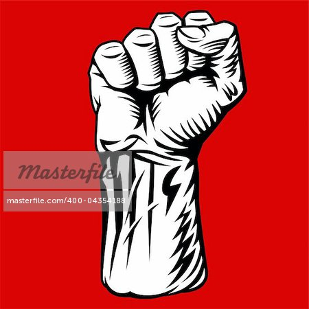 Struggle Hand Symbol. Vector Illustration Stock Photo - Royalty-Free