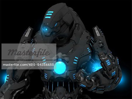 Quality 3d illustration of a future soldier Stock Photo - Budget Royalty-Free, Image code: 400-04356650