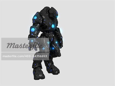 Quality 3d illustration of a future soldier Stock Photo - Budget Royalty-Free, Image code: 400-04356653