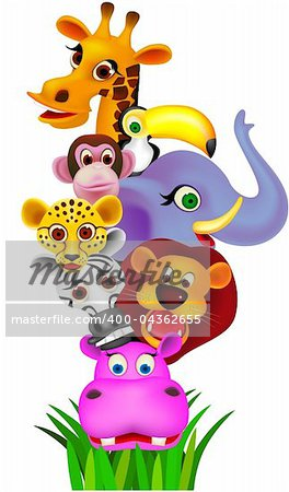 Animal cartoon vector Stock Photo - Budget Royalty-Free, Image code: 400-04362655