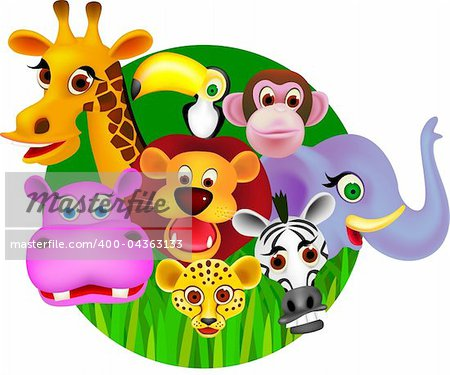 Animal cartoon vector Stock Photo - Budget Royalty-Free, Image code: 400-04363133