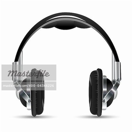illustration of headphone on white background Stock Photo - Budget Royalty-Free, Image code: 400-04366226