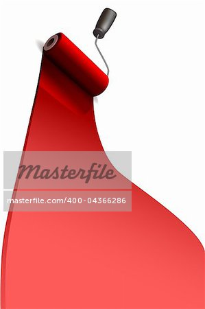 illustration of paint roller on white background Stock Photo - Budget Royalty-Free, Image code: 400-04366286