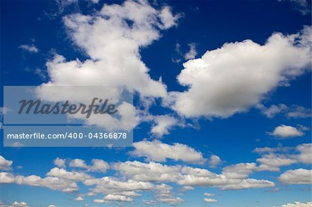 Beautiful clouds seen from the blue sky Stock Photo - Budget Royalty-Free, Image code: 400-04366878
