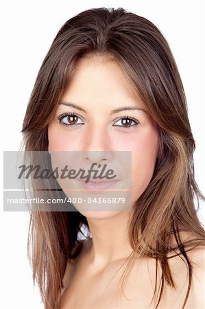 Beautiful girl isolated on a over white background Stock Photo - Budget Royalty-Free, Image code: 400-04366879