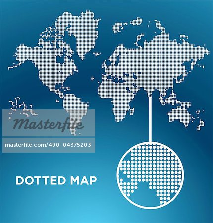 Vector illustration of  dotted World map background, easy to edit Stock Photo - Budget Royalty-Free, Image code: 400-04375203