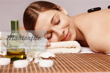 Beautiful young girl does spa treatments Stock Photo - Budget Royalty-Free, Image code: 400-04375664
